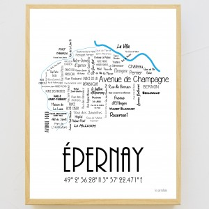 Poster le plan d'Epernay